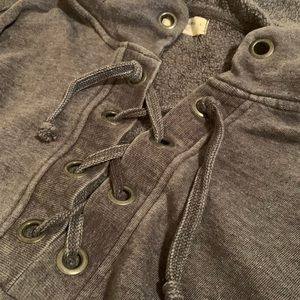 Ocean Drive Tops - Ocean Drive Lace-up Sweatshirt